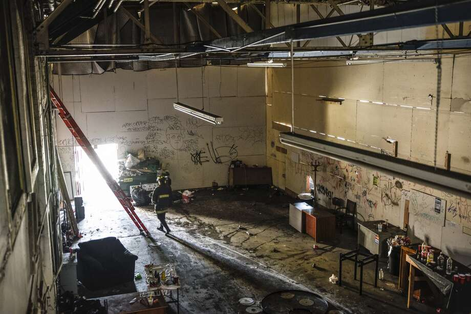 The interior of the Ghost Ship warehouse is seen after the Dec. 2 fire that killed 36 people in Oakland. Photo: David Butow/Special To The Chronicle