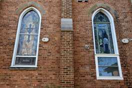 Stained glass windows of a former Methodist church Dr. Peter Forman turned into medical offices known as Delmar Family Medicine on Tuesday, Nov. 1, 2016 in Slingerlands, N.Y. (Lori Van Buren / Times Union)