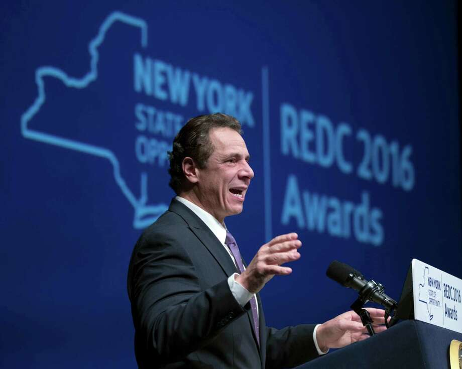 New York Gov. Andrew Cuomo speaks during an economic development awards ceremony on Thursday, Dec. 8, 2016, in Albany, N.Y. (AP Photo/Mike Groll) ORG XMIT: NYMG101 Photo: Mike Groll / Copyright 2016 The Associated Press. All rights reserved.