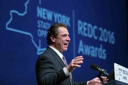 New York Gov. Andrew Cuomo speaks during an economic development awards ceremony on Thursday, Dec. 8, 2016, in Albany, N.Y. (AP Photo/Mike Groll) ORG XMIT: NYMG101