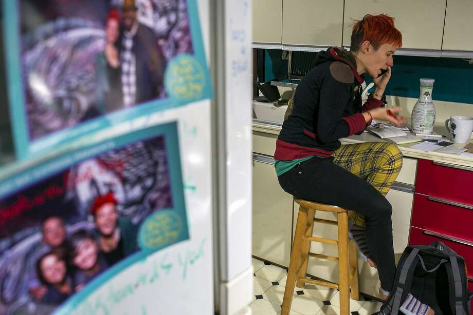 Angela Scrivani chats with her mother about the Bay Area's difficult rental market. Photo: Santiago Mejia, The Chronicle