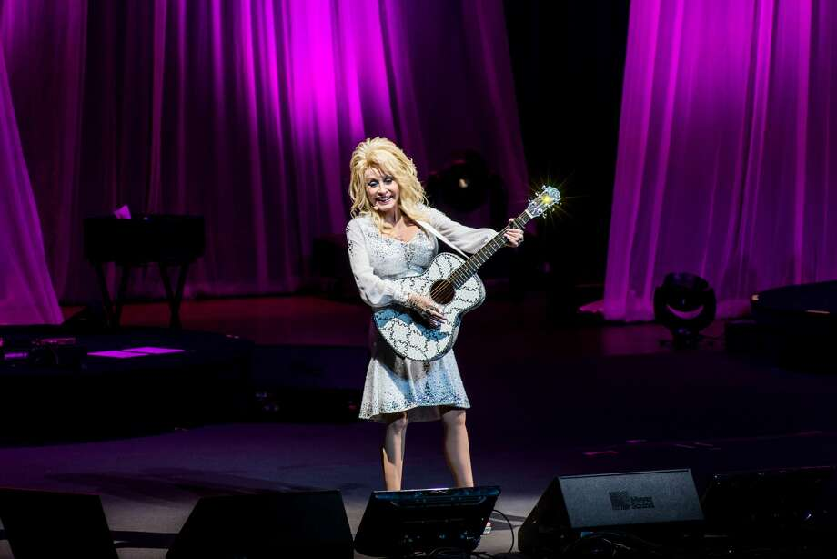 Dolly Parton performed in the Tobin Center Dec. 8, 2016. Photo: John David Scarcliff