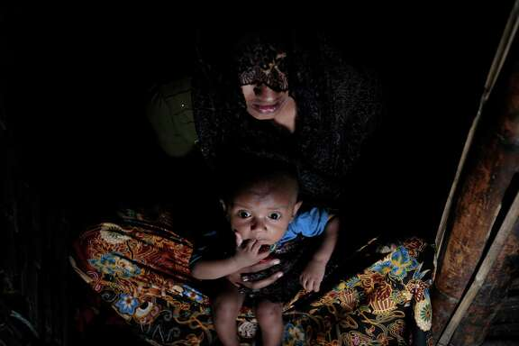 A Rohingya woman escaped to Bangladesh from Myanmar.