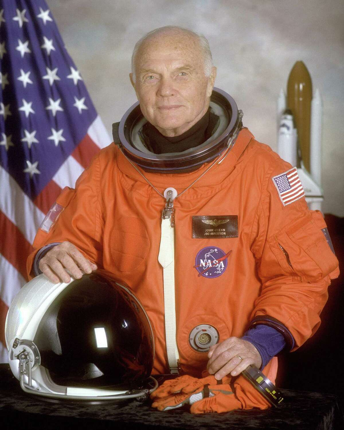 STS-95 crewmember, astronaut and then-U.S. Sen. John Glenn was the first American to orbit the earth and returned to space in 1998 aboard a Space Shuttle flight in 1998. Glenn died at the age of 95.