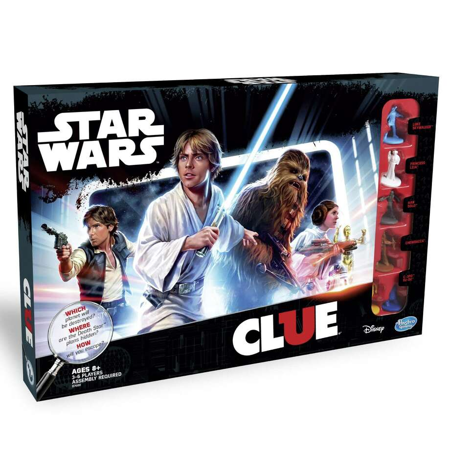 "Clue Game: ""Star Wars"" Edition ($24.99, hasbrotoyshop.com): Well it wasn't Col. Mustard in the trash compactor. The classic whodunnit board game Clue gets a murder-free Imperial makeover, as you race through a 3-D version of the Death Star to figure out which planet is next on Darth Vader's hit list, which room has the secret Death Star plans, and which vehicle is your means of escape. Photo: Hasbro"