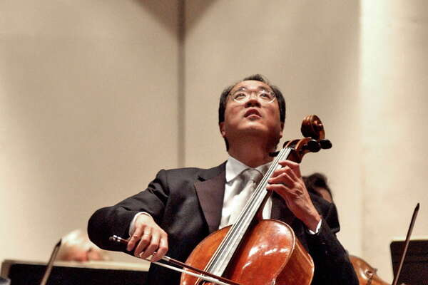 Shannon DeCelle Special to the Times Union:  Yo-Yo Ma performs with the Albany Symphony Orchestra Friday evening January 20, 2006 at the Palace Theatre in Albany, NY.