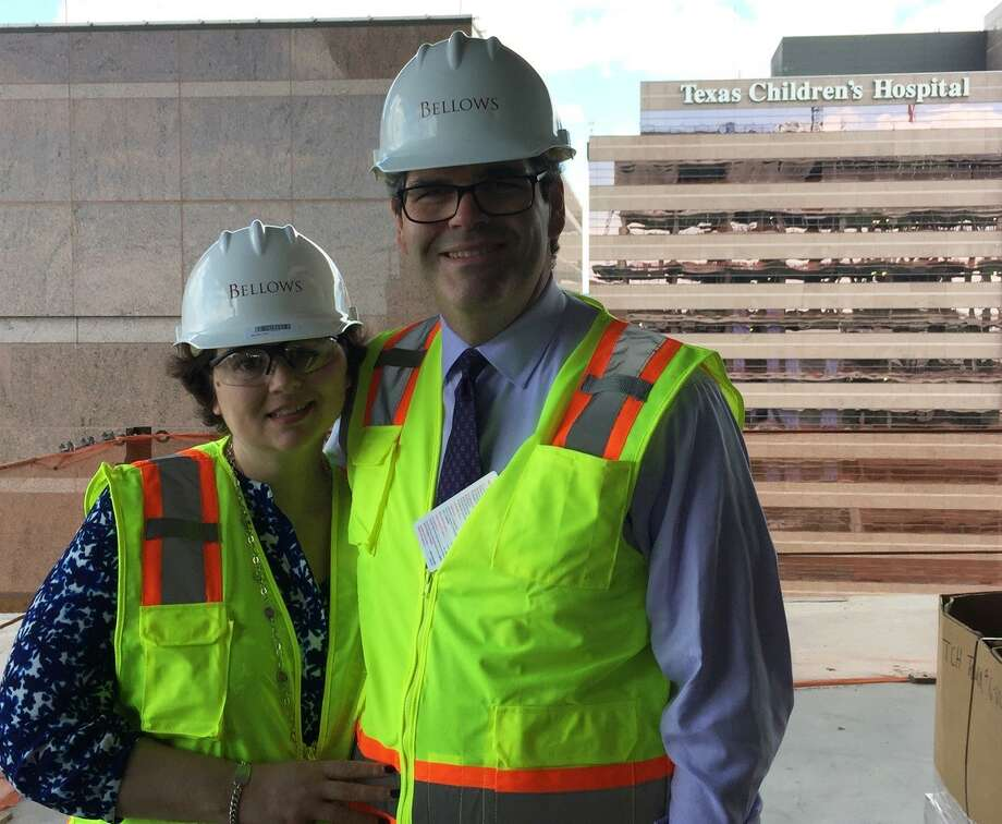 Ed Wolff, president of Beth Wolff Realtors Real Living, with his wife, Katy, got a preview of things to come at the Texas Children's Hospital heart facility.