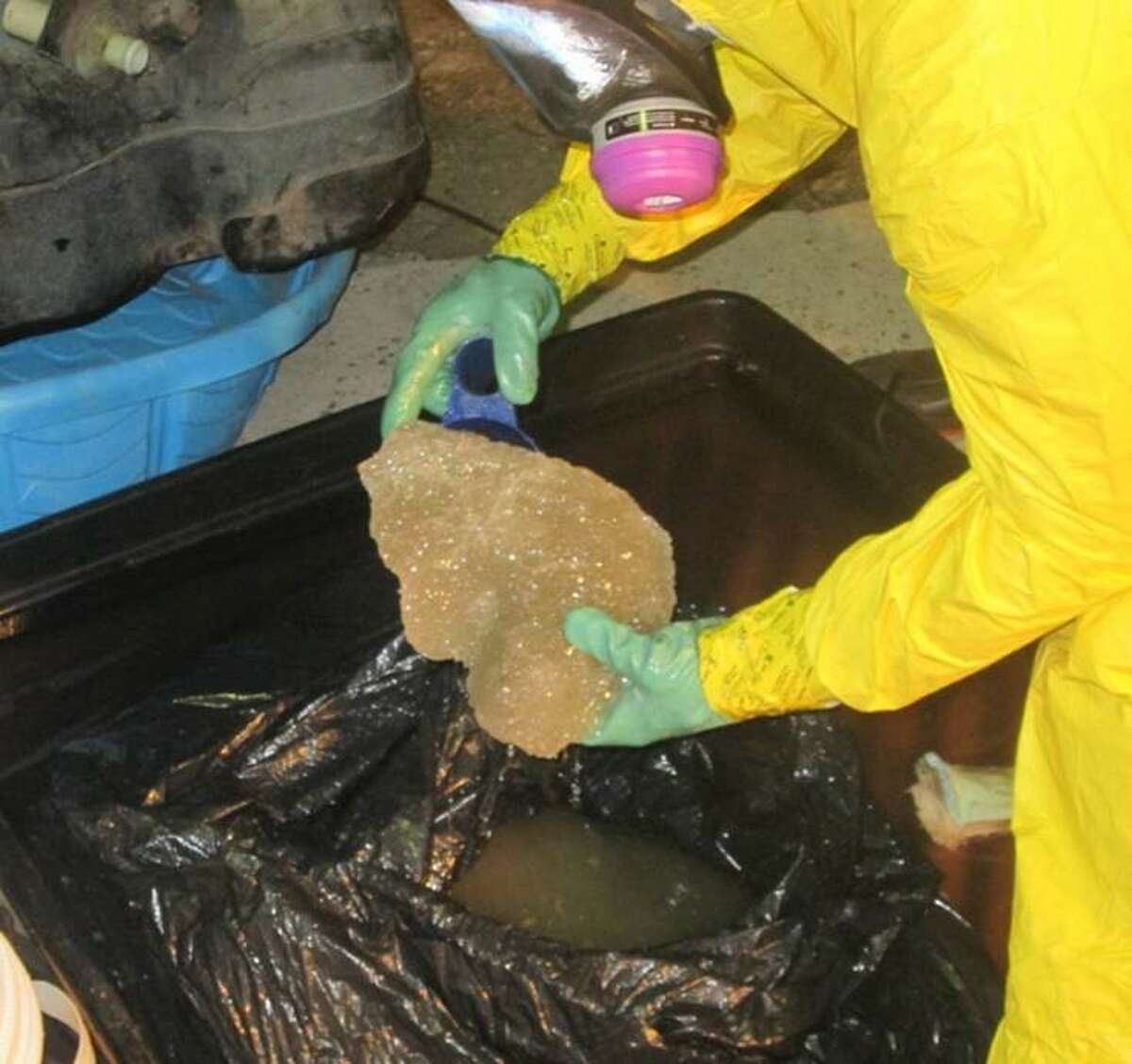 U.S. Customs and Border Protection agents confiscated about $2.1 million in liquid meth from a pickup in Sarita, Texas.