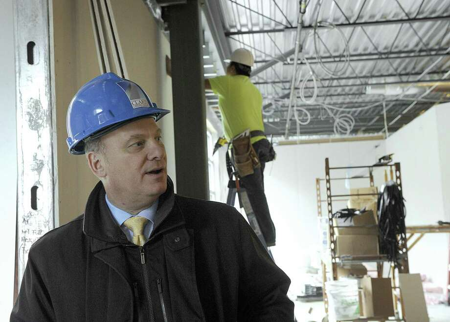 David Greenfield, OrthoConnecticut CEO, talks about the medical office complex being developed by Maplewood Healthcare at 2 Riverview Drive that will become the headquarters for Danbury Orthopedics on Thursday. It is scheduled to open in the spring. Photo: Carol Kaliff / Hearst Connecticut Media / The News-Times