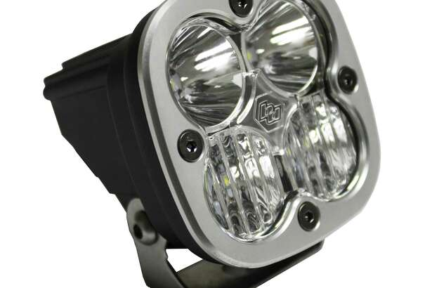 The Baja Designs Squadron R Sport off-road light for motorcycles, ATVs, SUVs and light trucks delivers 1,800 lumens and uses a hard-coated polycarbonate front lens and comes with an aircraft-grade aluminum housing, wiring harness and mounting bracket.