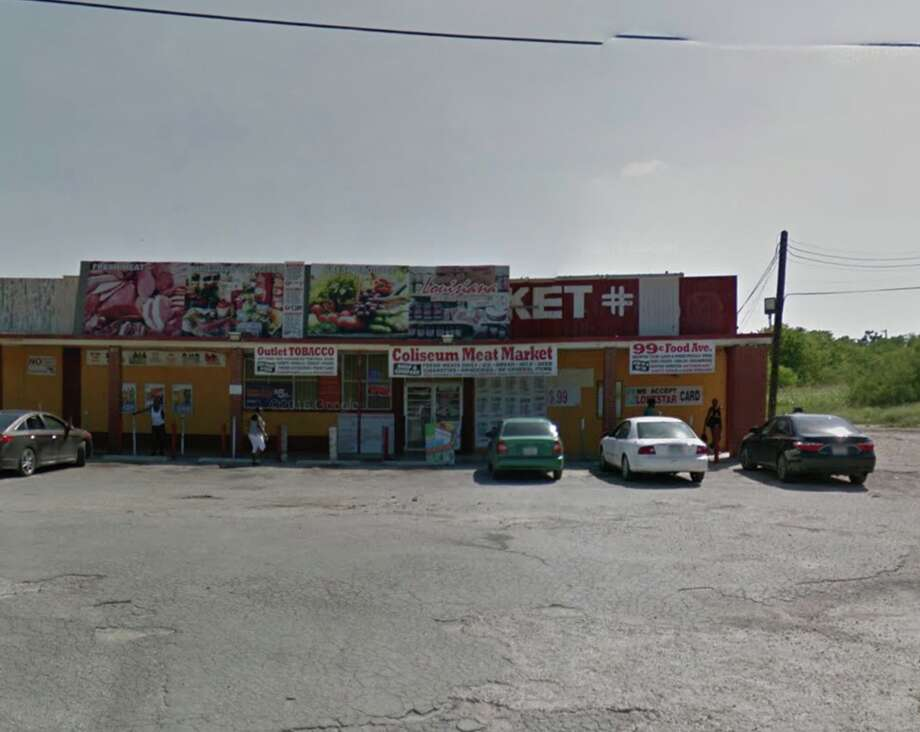 """Coliseum Meat Market & Grocery: 403 Spriggsdale Ave.  Date: 09/25/2019 Score: 80  Highlights: Inspectors observed """"gnats near mop sink."""" The container holding tongs had built up debris inside. There was an employee's food and drink at the cutting board station. Photo: Google Street View"""