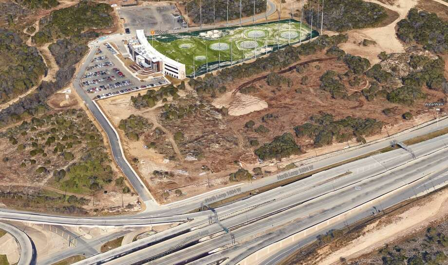 A group of investors from Austin has bought two properties with a total of about 3.4 acres next to Topgolf San Antonio at the crossing of Interstate 10 and Loop 1604. Photo: Google Maps