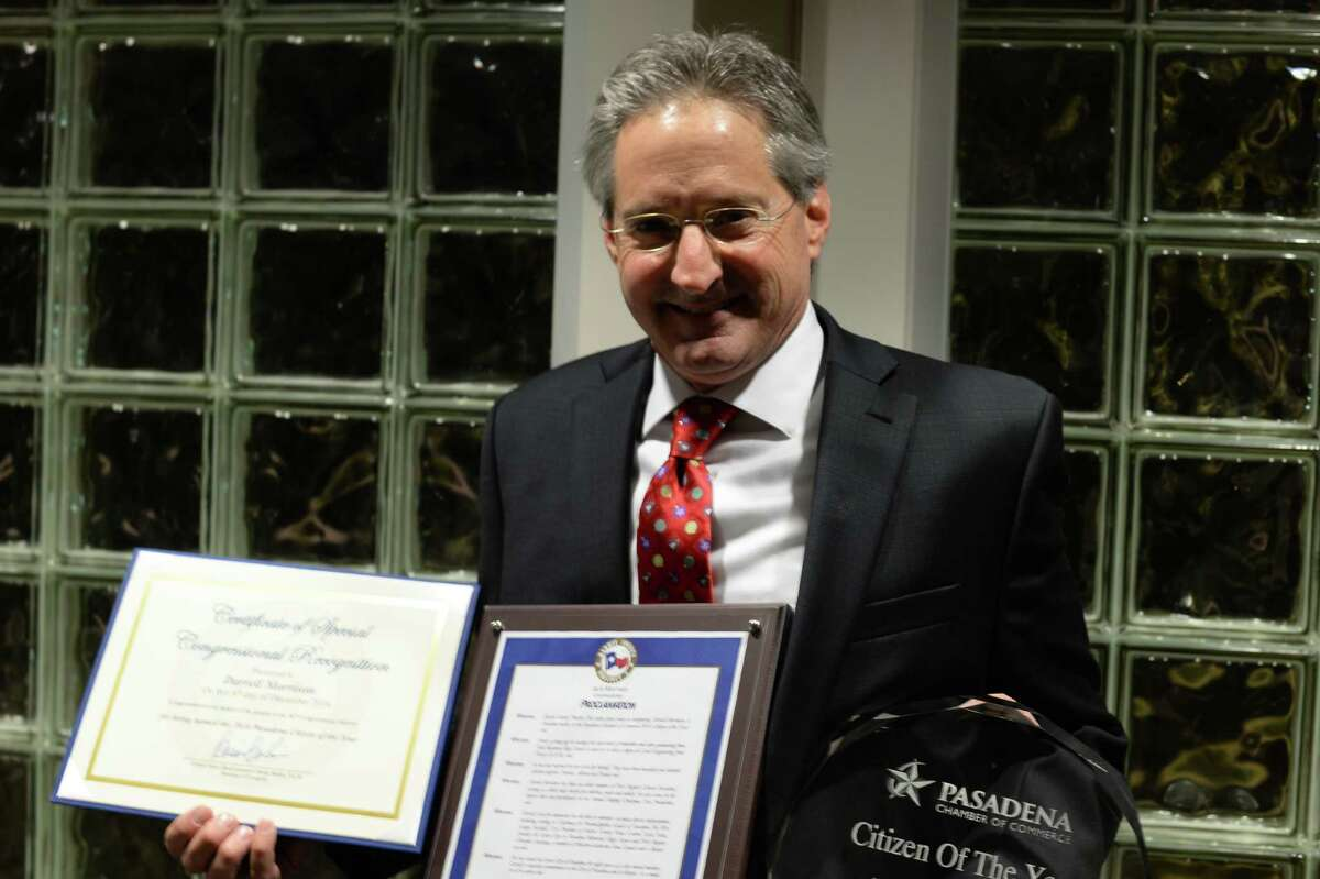 Pasadena City Councilman Darrell Morrison is the Pasadena Chamber of Commerce's citizen of the year.