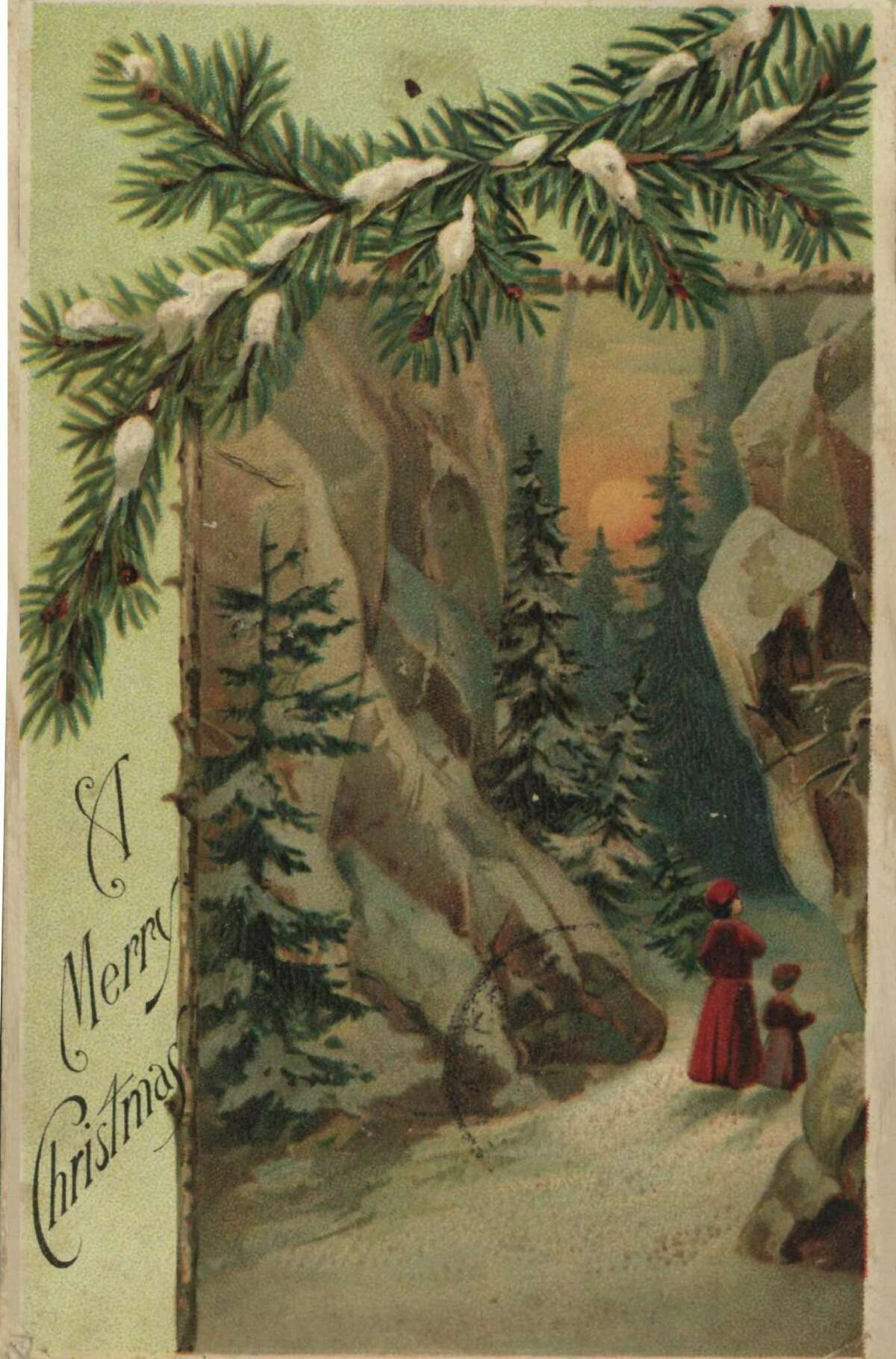 A Christmas postcard from 1907 is part of the Brazoria County Historical MuseumÂ?'s collection. The postcard and other items are part of a Christmas exhibit about the holidayÂ?'s history and traditions. The exhibit runs through December, and will be open for guests attending SantaÂ?'s Workshop, Dec. 17.