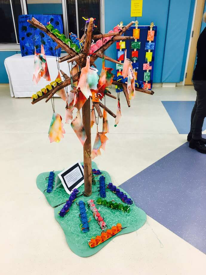 Head Start in Danbury held its first art show on Wednesday, Dec. 7, 2016. Pictured is 'The Color of Autumn,' the winning project, created by Ms. Dempsey's, Ms. Kristen's, and Ms. Aylin's class. Photo: Contributed/Maria Escobar