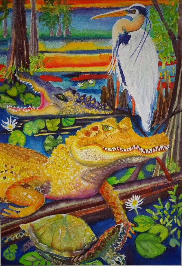 """""""Friends of the Everglades,"""" watercolor painting by Darlene Van Sickle (Submitted photo)"""