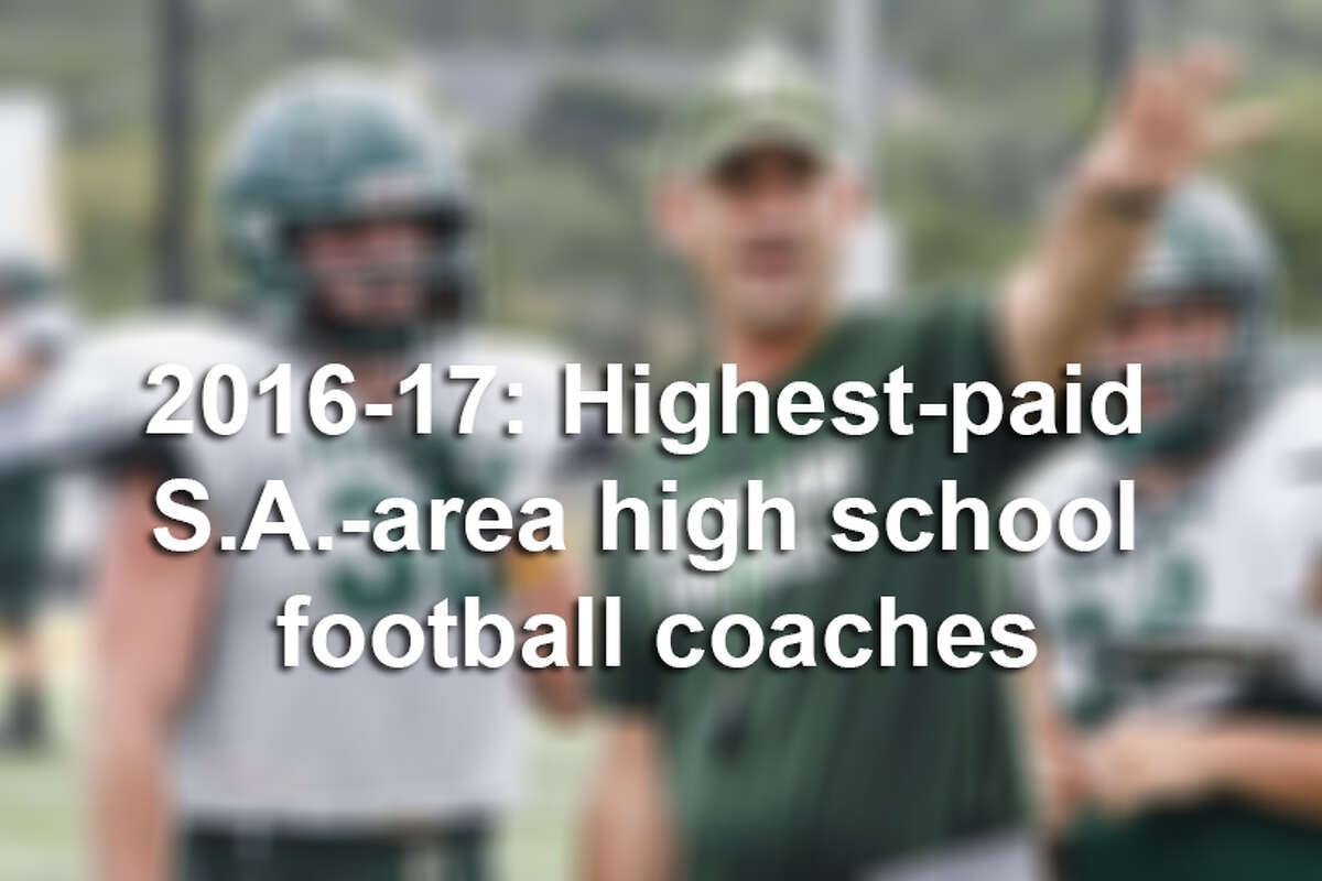Records from San Antonio-area school districts show the top-paid head football coaches for the 2016-2017 school year all make $90,000 or more.
