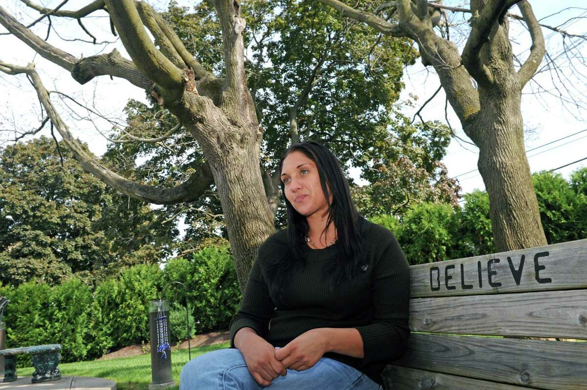 Monika recovering from heroin addiction reflects on her life story while being interviewed at The Next Step on Friday Sept. 25, 2015 in Albany, N.Y. (Michael P. Farrell/Times Union)