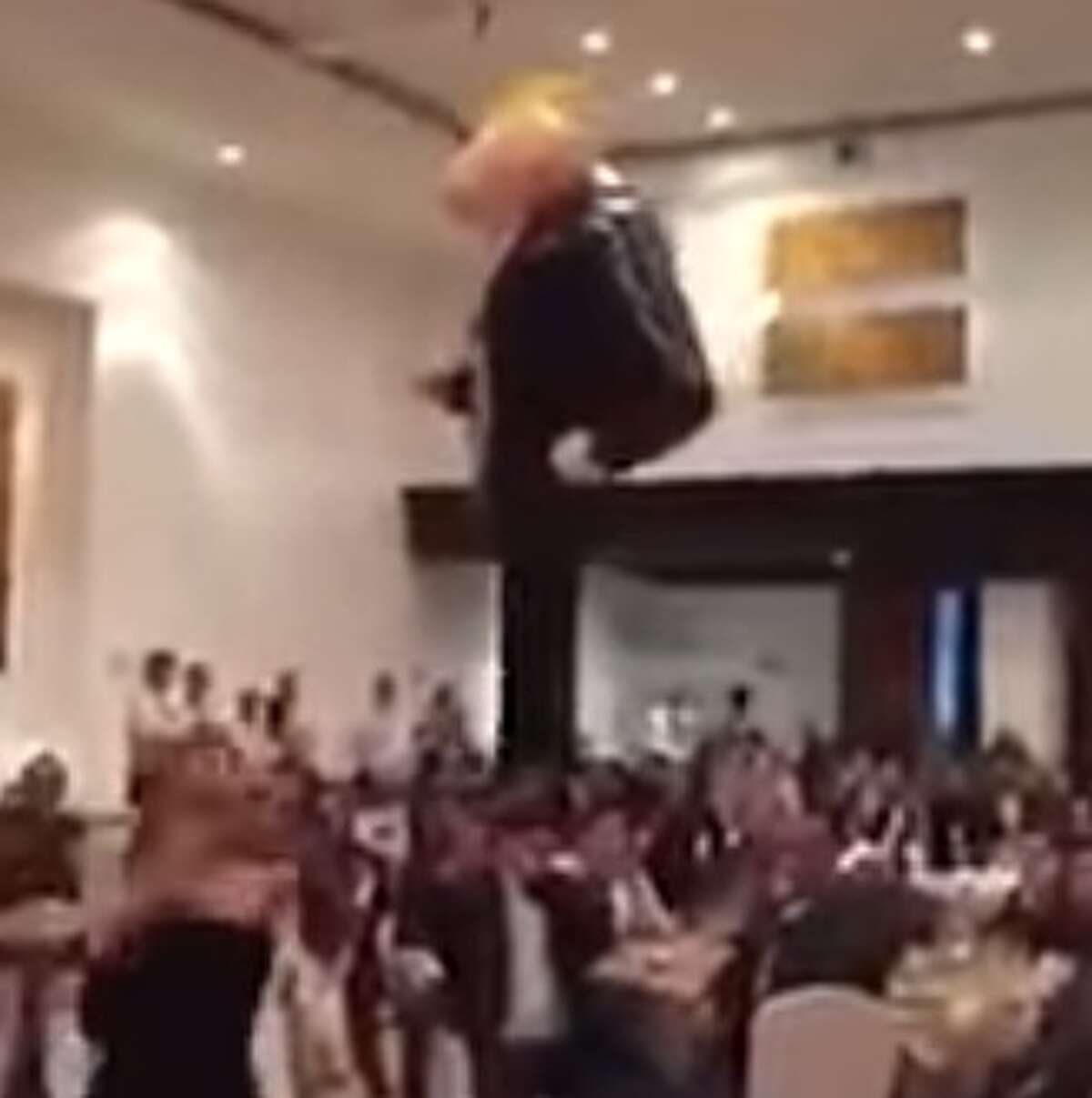 Mexican senators were seen on video beating a pinata of president-elect Donald Trump in early December, 2016. Image source: Youtube Click through the slideshow to see memes of Trump in Mexico.