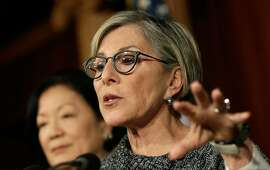 Sen. Barbara Boxer (D-CA) speaks during a press conference to highlight measures in the House version of a government shutdown bill that would deny women affordable contraception and other health care benefits that are provided under the Affordable Care Act. According to Senate Democrats, the Republican bill specifically targets women's preventive health care. (Photo by Win McNamee/Getty Images)