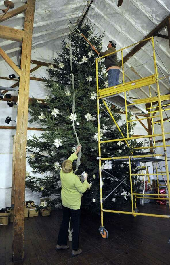 File photo of a Christmas tree at The Silo at Hunt Hill Farm in New Milford. Photo: Carol Kaliff / Carol Kaliff / The News-Times