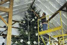 File photo of a Christmas tree at The Silo at Hunt Hill Farm in New Milford.