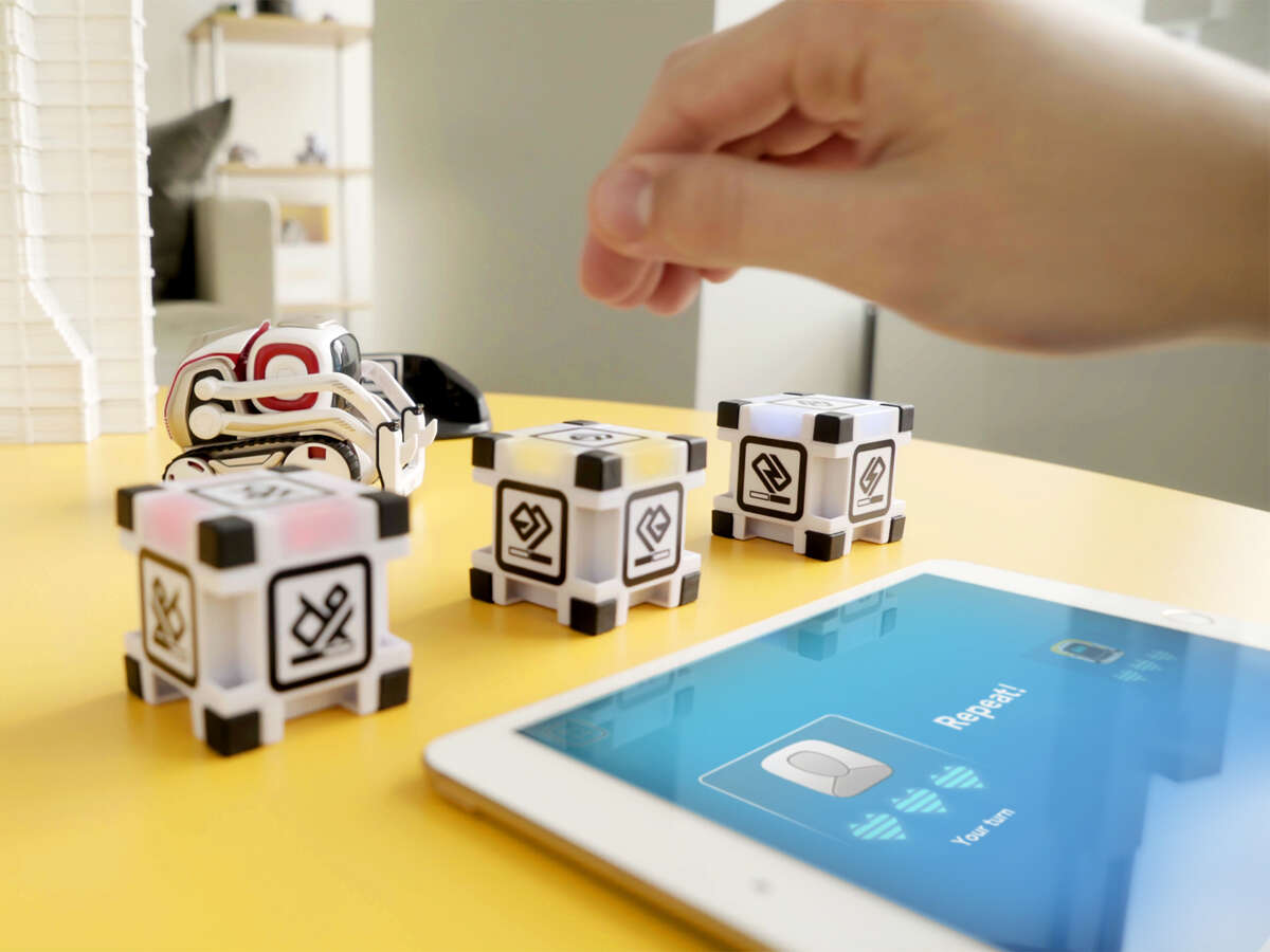 The Cozmo Memory Match game comes with a little robot friend full of personality and magnetic blocks that snap together to teach the basics of computer programming. Whether youÂ?'re looking for something educational or a toy thatÂ?'s just for fun, there are a lot of choices for the holidays.