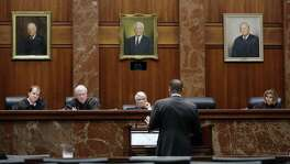 Texas Supreme Court justices listen as an attorney argues his case. A creditable justice system is fundamental to justice for all. But a recent survey from the National Center for State Courts reflects a strong public perception that some people do not receive fair treatment in our courts.