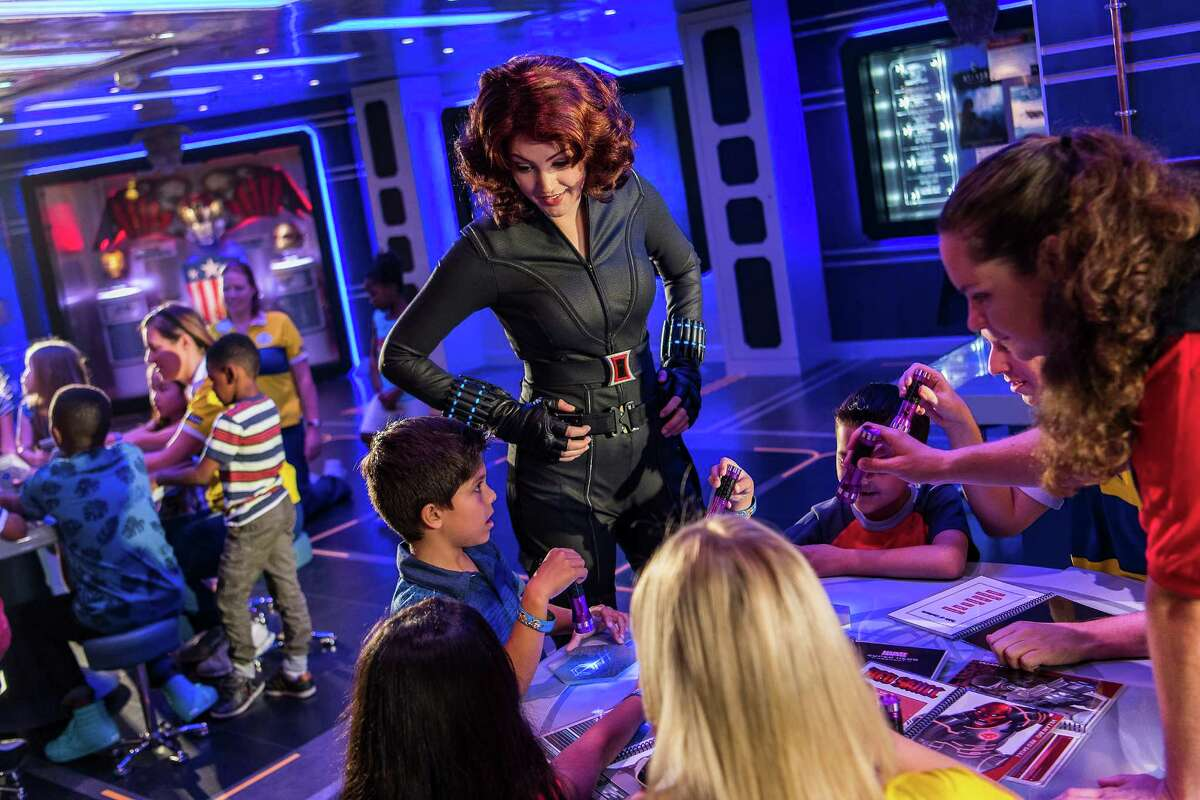 In Disney's Oceaneer Club on the Disney Wonder, Black Widow and some of Marvel s greatest Super Heroes mentor young guests.