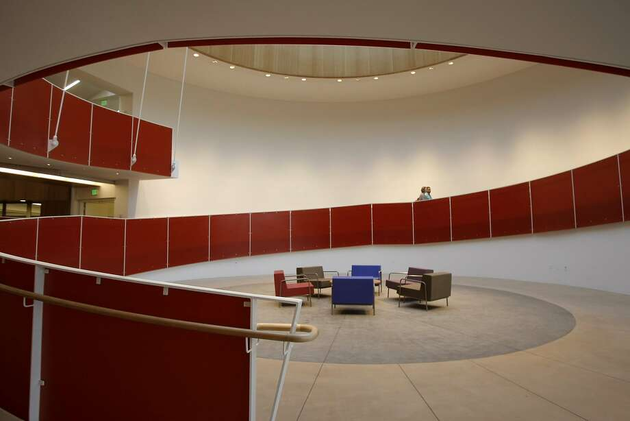 The spiraling ramp in the lobby of the Ed Roberts Campus in Berkeley, named after a leader of the independent living movement, is accessible to all. Photo: Michelle Gachet, The Chronicle