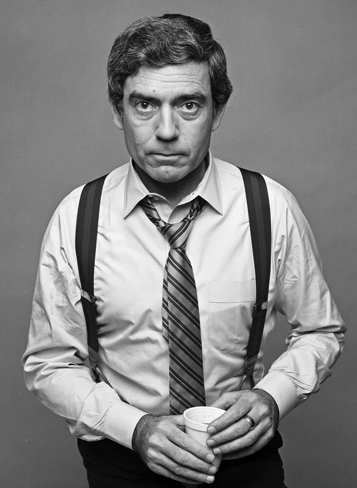 CBS News anchor Dan Rather photographed in December 1980. (Photo by Jack Mitchell/Getty Images)