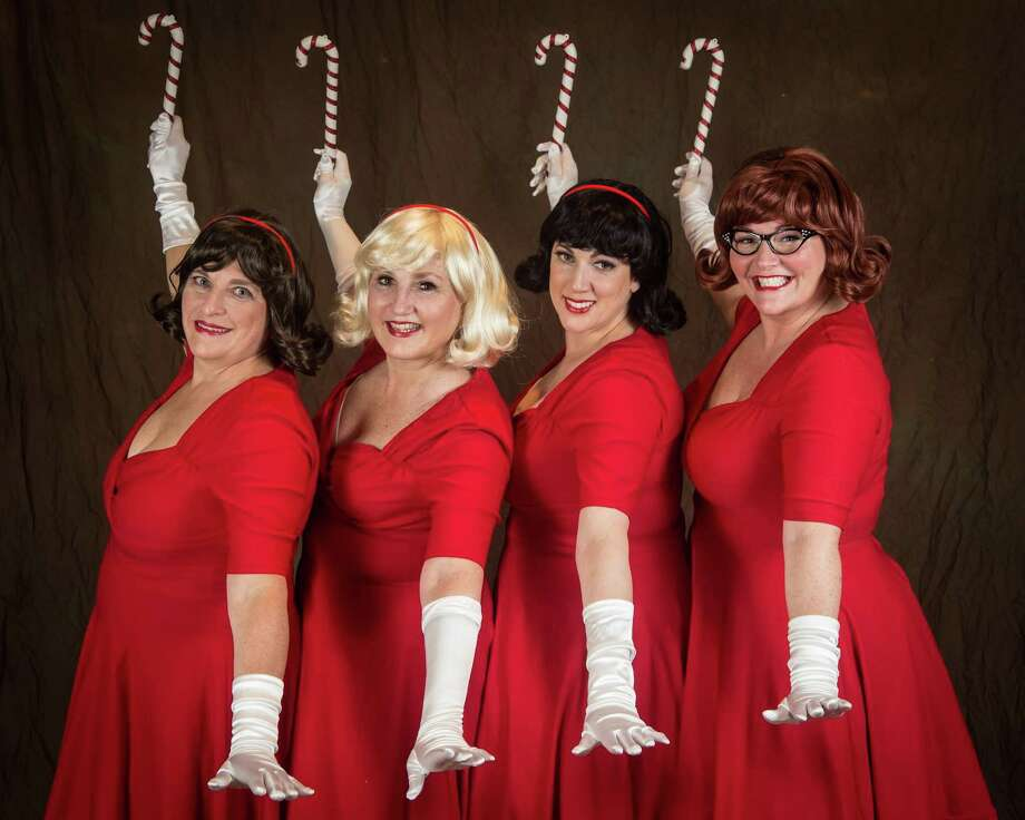 """Musicals at Richter presents """"The Mistletoes Take a Holiday"""" at the Palace Danbury, Friday, Dec. 16, through Sunday, Dec. 18. The Mistletoes: Diana Matson, left, Priscilla Squiers, Lynn Paulella and Juliette Koch. Photo: David Henningsen Photography / Contributed Photo"""
