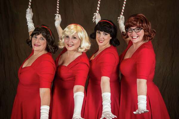 """Musicals at Richter presents """"The Mistletoes Take a Holiday"""" at the Palace Danbury, Friday, Dec. 16, through Sunday, Dec. 18. The Mistletoes: Diana Matson, left, Priscilla Squiers, Lynn Paulella and Juliette Koch."""