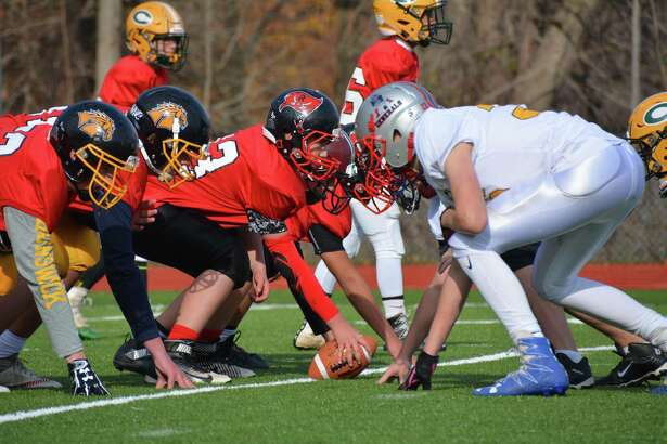 Scenes from the Greenwich Youth Football League's inaugural Graduation Bowl at Greenwich High School on Nov. 25, 2016. The goal of the Graduation Bowl was to unify the graduating eighth-graders from the various GYFL teams before they headed off to play at Greenwich High, Brunswick and other schools.