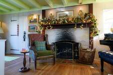 A Christmas mantle Carey Karlan designed for the holiday.