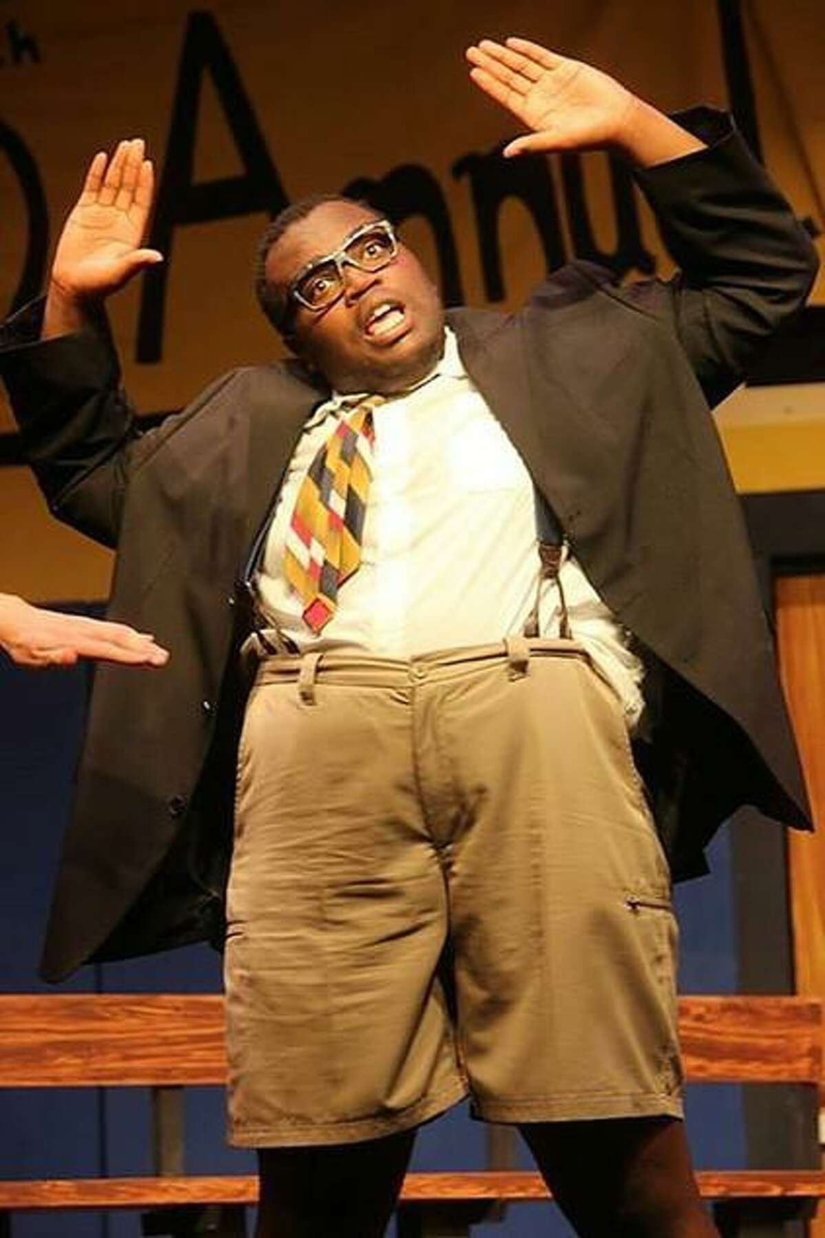 Juwan Crawley performs in the musical comedy,