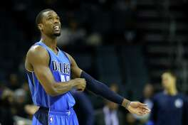 CHARLOTTE, NC - DECEMBER 01:  Harrison Barnes #40 of the Dallas Mavericks prepares for their game against the Charlotte Hornets at Spectrum Center on December 1, 2016 in Charlotte, North Carolina. NOTE TO USER: User expressly acknowledges and agrees that, by downloading and or using this photograph, User is consenting to the terms and conditions of the Getty Images License Agreement.