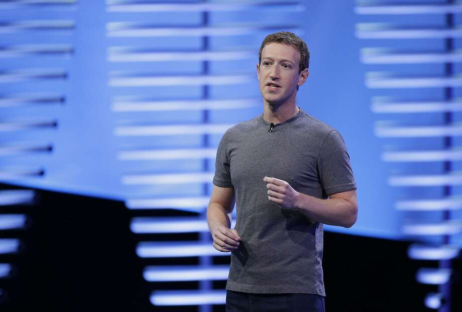 FILE- In this April 12, 2016, file photo, Facebook CEO Mark Zuckerberg speaks during the keynote address at the F8 Facebook Developer Conference in San Francisco. (AP Photo/Eric Risberg, File) Photo: Eric Risberg, Associated Press