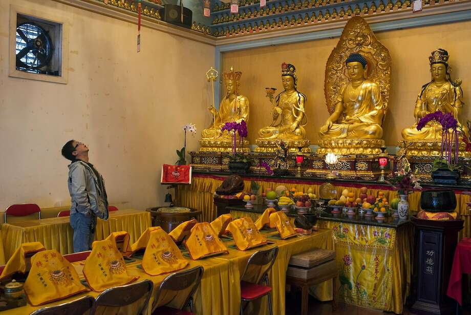 A Buddhist temple is located in an Oakland building owned by Chor Ng, who is also landlord of the Ghost Ship fire site. Photo: Pete Kiehart, Special To The Chronicle