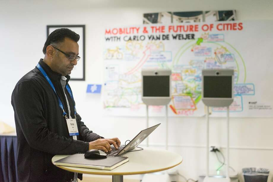 Ketan Patel attends a session at Singularity University, which seeks to harness technology to solve global problems and create profit. Photo: James Tensuan, Special To The Chronicle