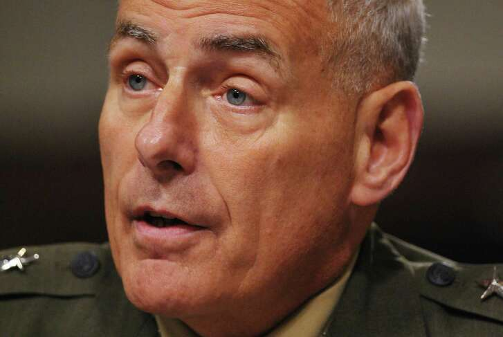 (FILES) This file photo taken on March 13, 2014 shows US Marine Corps General John Kelly, commander of the US Southern Command, testifies before the Senate Armed Services Committee hearing on Capitol Hill in Washington, DC.  President-elect Donald Trump has decided to name retired Marine Corps general John Kelly, a veteran of combat in Iraq, to lead the Department of Homeland Security, US media said December 7, 2016. Kelly would be the third retired general -- all of them former Marines -- to be named to cabinet-level positions in Trump's administration. The impending appointment was widely reported in the US media but not confirmed by Trump's transition office, apparently because Kelly is out of the country. Kelly, 66, is a former head of the US Southern Command and was the commanding general of Multi-National Force-West in Iraq from 2008 to 2009.  / AFP PHOTO / MANDEL NGANMANDEL NGAN/AFP/Getty Images