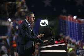 FILE -- Peter Thiel, a billionaire investor who's role in the Trump administration is to formulate a tech policy, speaks at the Republican National Convention in Cleveland, July 21, 2016. President-elect Donald Trump has asked leaders of the biggest tech companies to New York for a round-table discussion, according to a transition official who has seen the invitations. (Stephen Crowley/The New York Times)