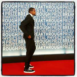 Golden State Warriors' Kevin Durant was a presenter at the Breakthrough Prize in Mountain View. Dec 2016.