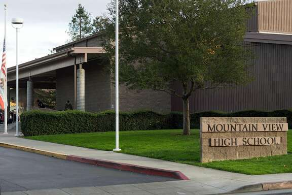 Mountain View High School is seen on Friday, Dec. 9, 2016. Students are alleged to have put nude photographs of others into a shared Dropbox account.