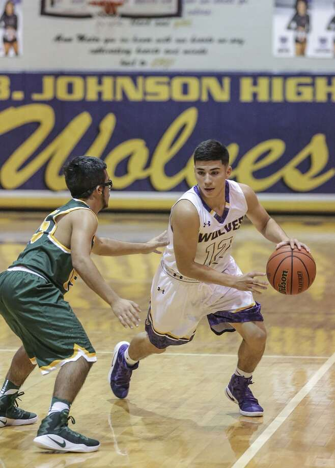 Andy Ibarra scored 33 points in a pair of wins Friday as LBJ surpassed last season's win total and advanced to the gold bracket championship game at the Hidalgo Pirate Classic. Photo: Victor Strife /Laredo Morning Times File