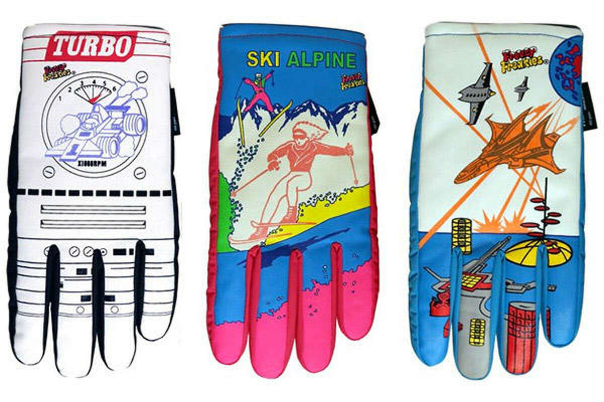 Freezy Freakies Gloves Price: $34 Many a retro fan should remember Freezy Freakies as the gloves with magic images that only appeared in the cold. For example, your gloves might've began the day with some hearts and a rainbow on them, but once the winter chill hit 'em, hello unicorns! The brand resurfaced a few years ago, and these are basically the exact same gloves that we grew up with, albeit in sizes more appropriate for giant adult hands. Très cool!