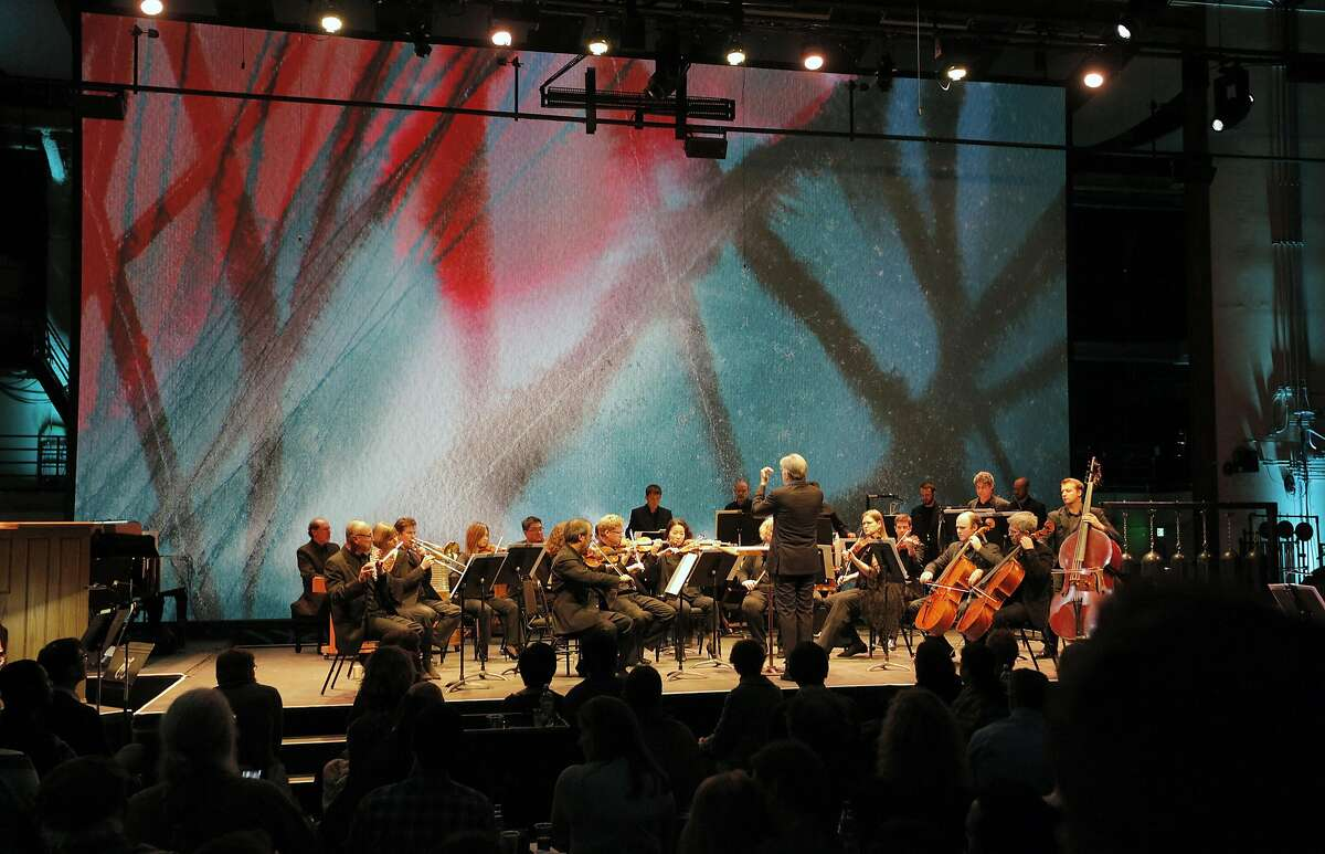 Michael Tilson Thomas conducts members of the San Francisco Symphony in music by Lou Harrison at SoundBox, 12/9/16