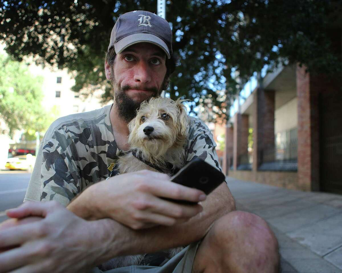 Patrick Gillespie is working on getting an ID so he can find a permanent place to live with his dog Franklin. They were reunited through the kindness of a stranger.