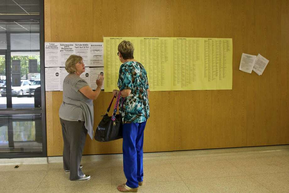 Few voters enter the voting booth having researched most races, let alone every candidate on the ballot. Absent other information, party affiliation is a good hint about the general philosophy of a judicial candidate. Photo: Marie D. De Jeséºs, Staff / © 2013 Houston Chronicle