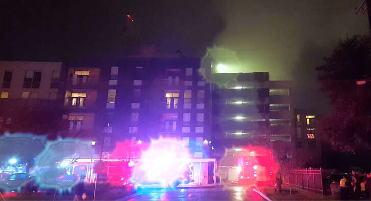 Agave Apartments residents were evacuated as crew battled a fire at the complex at 633 S. St. Mary's St. Saturday, Dec. 10, 2016.